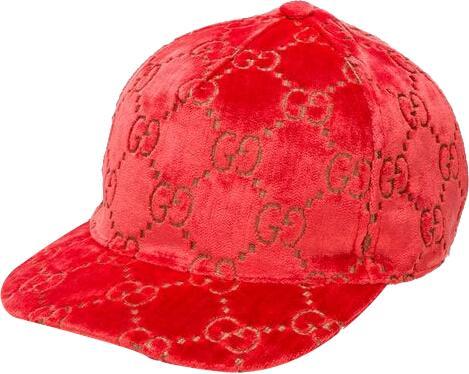Gucci Pinl Velvet Gg Hat