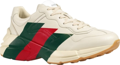 Gucci Red And Green Stripe Rhyton Sneakers