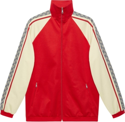 Gucci Red And White Track Jacket