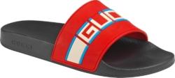 Gucci Red Pursuit Slides