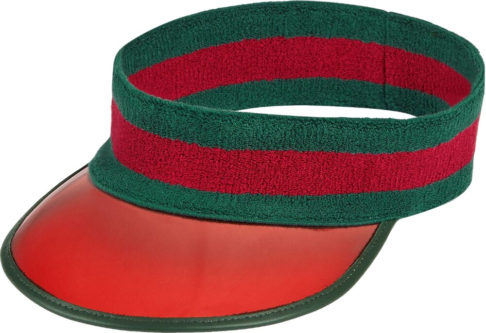 Gucci Red Vinyl Visor