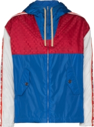 Gucci Red White And Blue Color Block Jacket