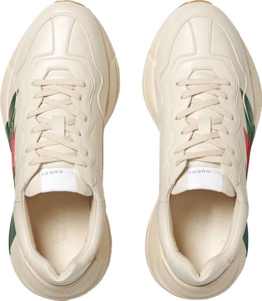 Gucci Rhyton White Leather Sneakers