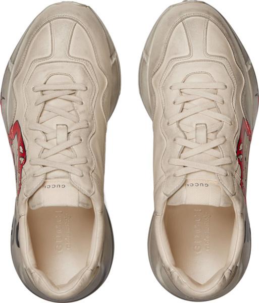 Gucci Rhyton White Mouth Tongue Print Sneakers