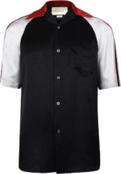 Gucci Shoulder Stripe Bowling Shirt
