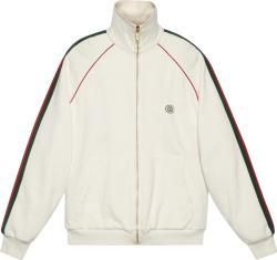 White & Web Sidestripe Track Jacket