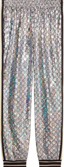 Gucci Silver Metallic Gg Jogging Pants