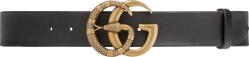 Gucci Snake Buckle Black Leather Belt