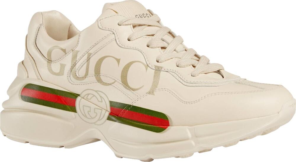 Gucci Stripe Print Rhyton Sneakers