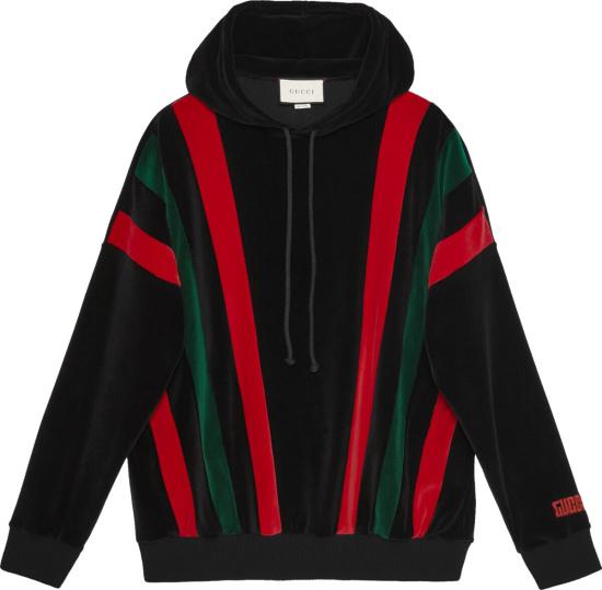Gucci Striped Chenille Black Hoodie