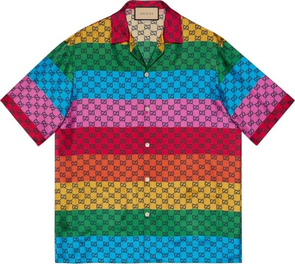 Gucci Striped Multicolor Gg Shirt 660311zag1l4206