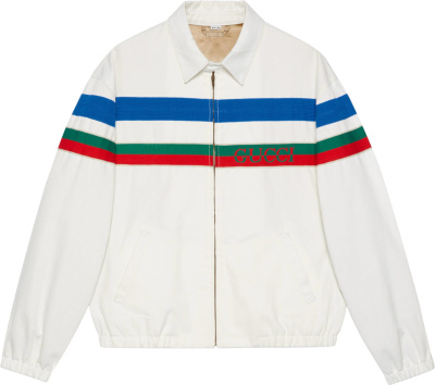 Gucci Striped White Denim Jacket