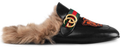 Gucci Tiger Patch Princetown Slippers