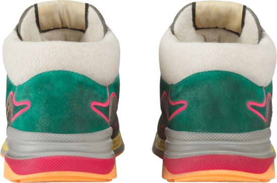 Gucci Torquoise Grey Ultrapace Sneakers