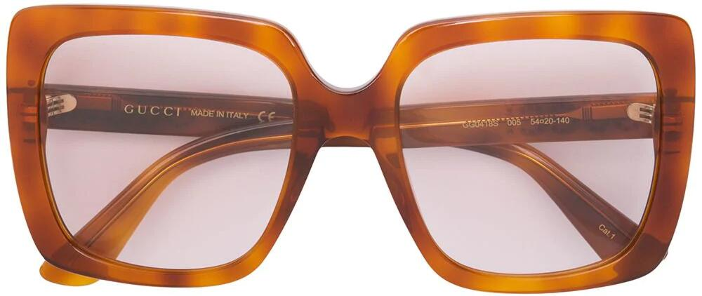 Gucci Tortoise Frame Large Quare Sunglasses