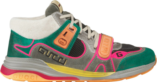 Gucci Turquoise Ultrapace Mid Sneakers
