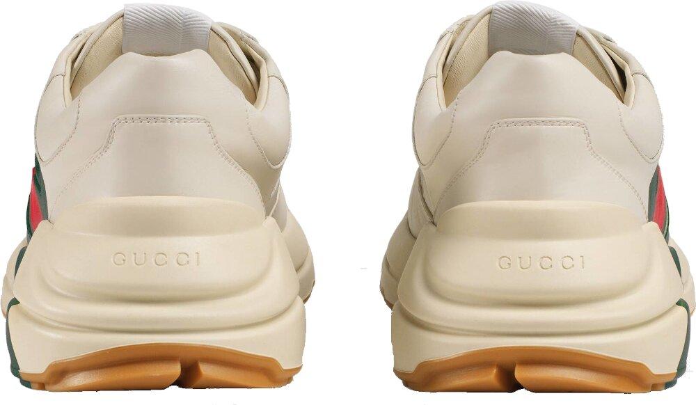 Gucci Web Print Rhyton Sneakers