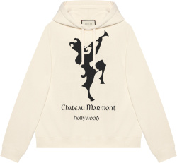 Gucci White And Black Chateau Marmont Hoodie