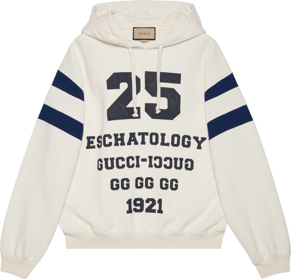 Gucci White And Navy 25 Eschatology Hoodie 655469xjdhn9230