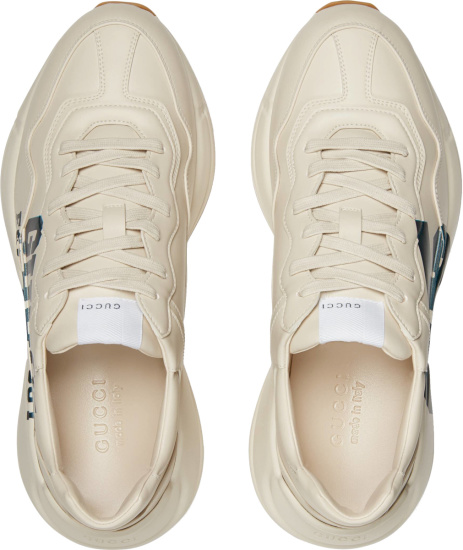 Gucci White And Navy 25 Eschatology Sneakers