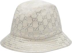 White & Silver-GG Bucket Hat
