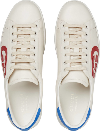 Gucci White Blue Red Gg Sneakers