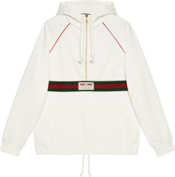 Gucci White Hooded Anorak Jacket