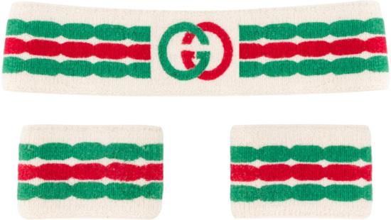 Gucci White Interlocking G Sweatbands