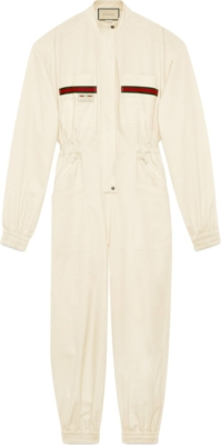 Gucci White Jumpsuit