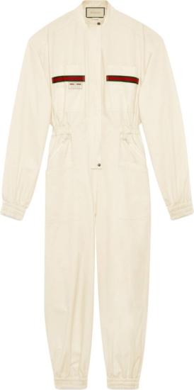 Gucci White Jumpsuit
