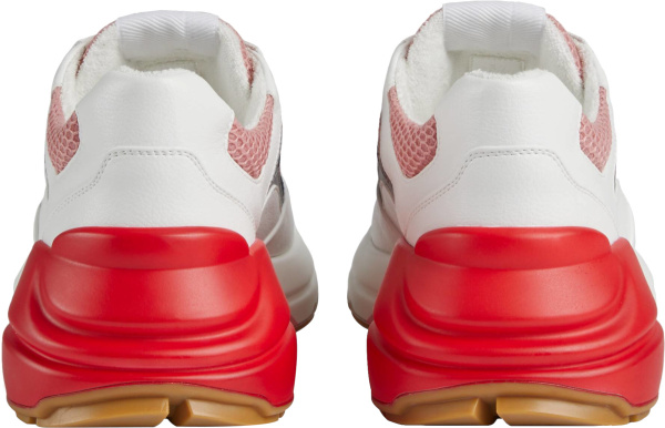 Gucci White Pink And Red Rhyton Sneakers
