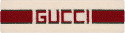 Gucci White Red Stripe Logo Headband
