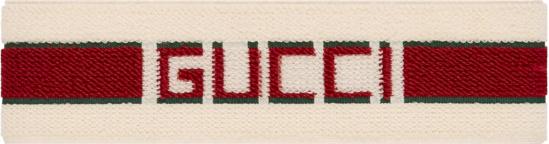 Gucci White Red Stripe Logo Headband