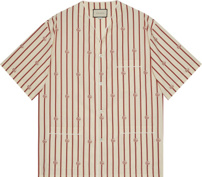 Gucci White Red Stripe Short Sleeve Shirt 618919 Zaeri 9647
