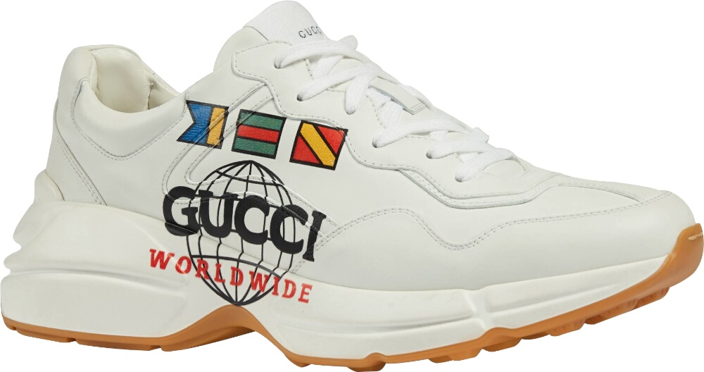 Gucci Worldwide Print Sneakers