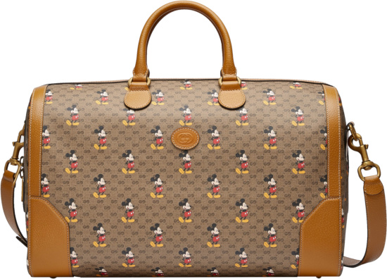 Gucci X Disney Brown Mickey Mouse Duffle Bag