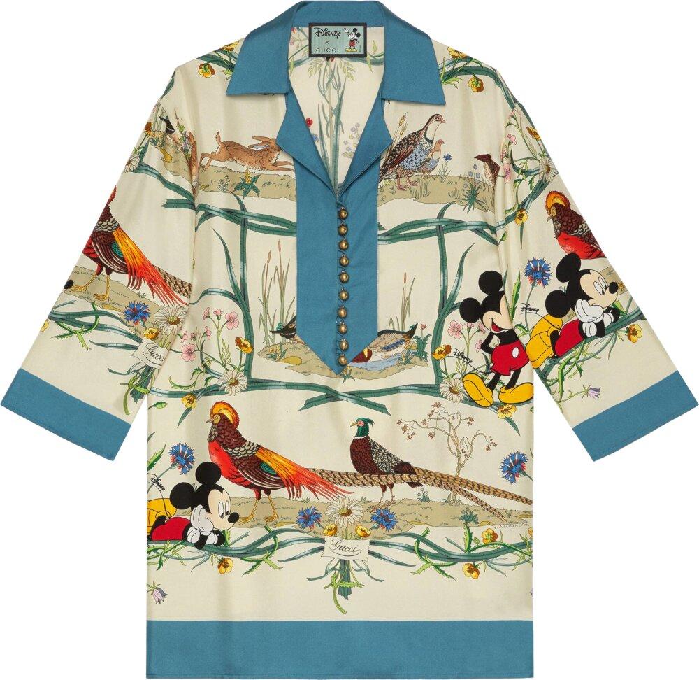 Gucci x Disney Floral Print Shirt
