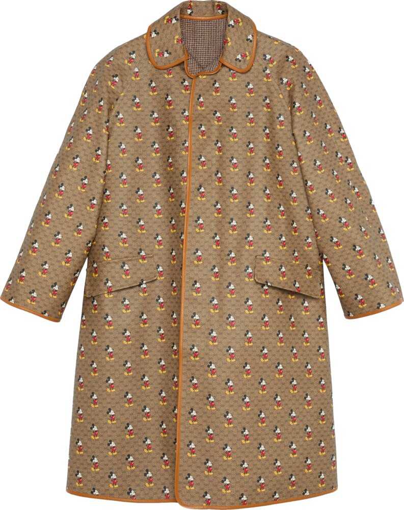 Gucci X Disney Mickey Mouse Print Beige Coat