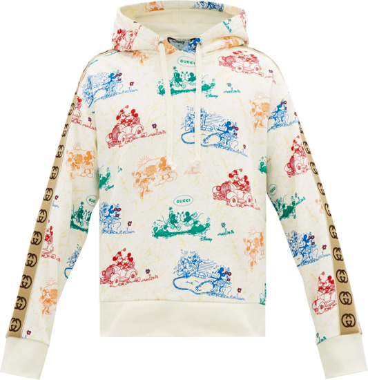 Gucci X Disney White Allover Mickey Mouse Hoodie