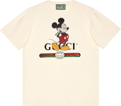Gucci X Disney White Mickey Mouse T Shirt