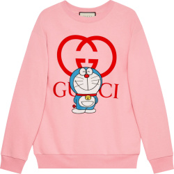 Gucci X Doraemon Pink Logo And Cartoon Print Sweatshirt 617964 Xjdic 5904