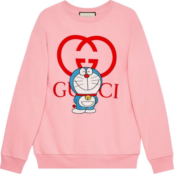Gucci X Doraemon Pink Logo And Cartoon Print Sweatshirt 617964 Xjdic 5904