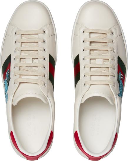 Gucci X Freya Hartas White Low Top Ace Sneakers