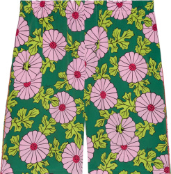 Gucci X Ken Scott Green And Pink Floral Shorts 639389zagak5337