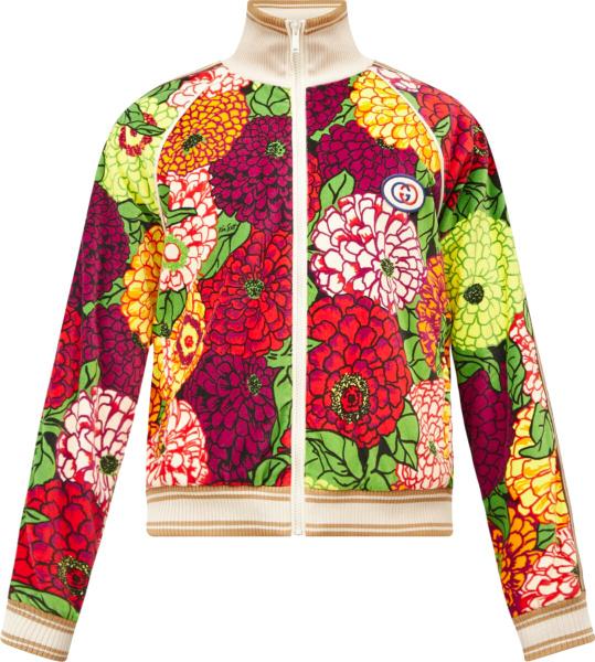 Gucci X Ken Scott Multicolor Floral Track Jacket