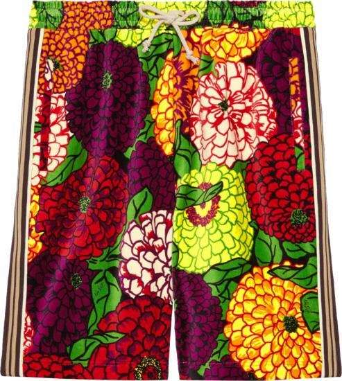 Gucci X Ken Scott Multicolor Print Cotton Shorts