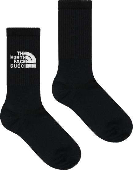 Gucci X The North Face Black Logo Socks