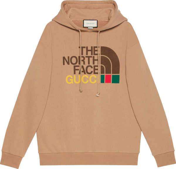 Gucci X The North Face Brown Logo Hoodie 615061 Xjdby 2597