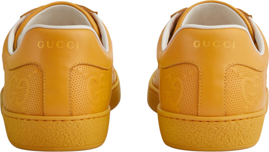 Gucci Yellow Gg Ace Sneakers