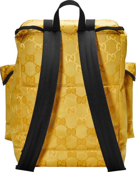 Gucci Yellow Gg Canvas Cargo Backpack